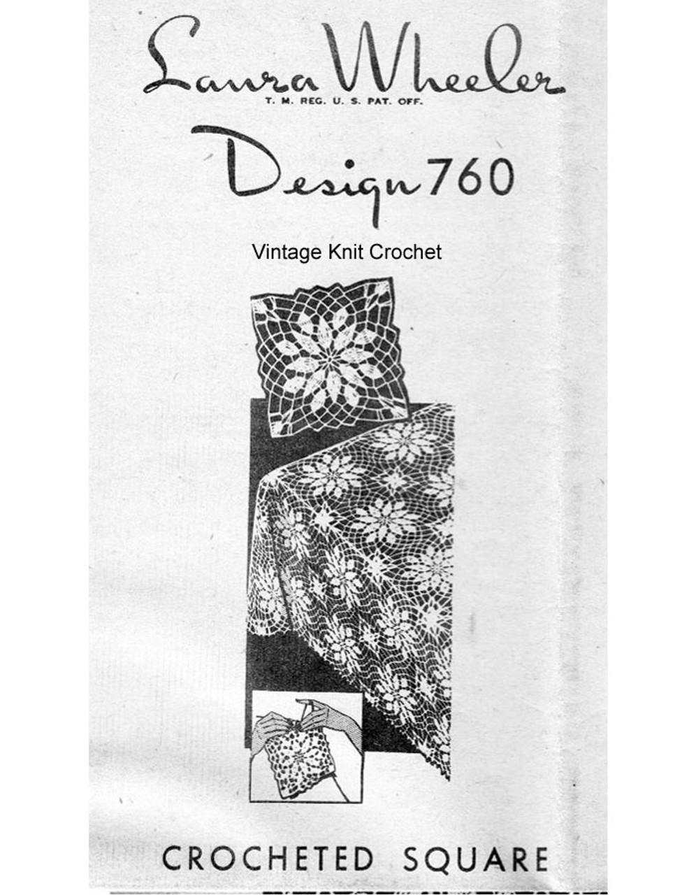 Flower Square Crochet Pattern, Tablecloth, Laura Wheeler 760
