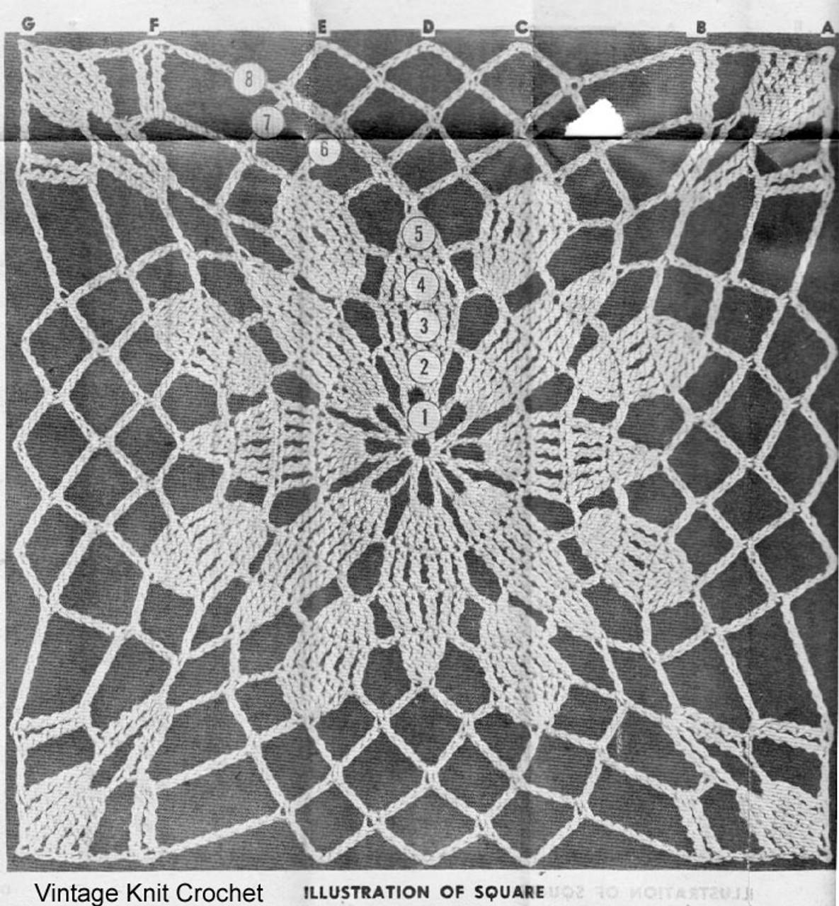 Crochet Square Pattern Illustration, Laura Wheeler 760