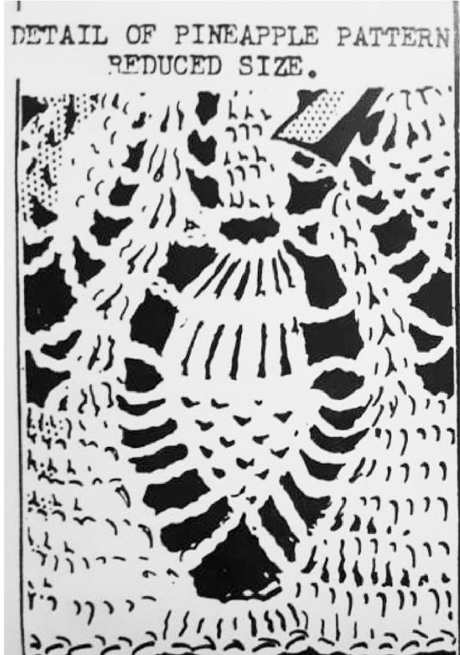 Crochet Pineapple Baby Set, Peggy Roberts 2936