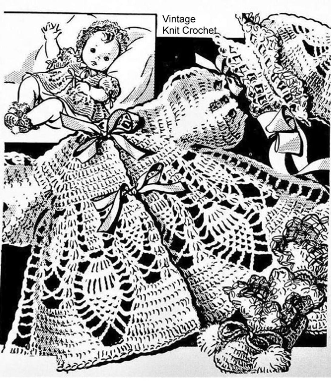 Pineapple Crochet Baby Set Pattern, Peggy Roberts 2936