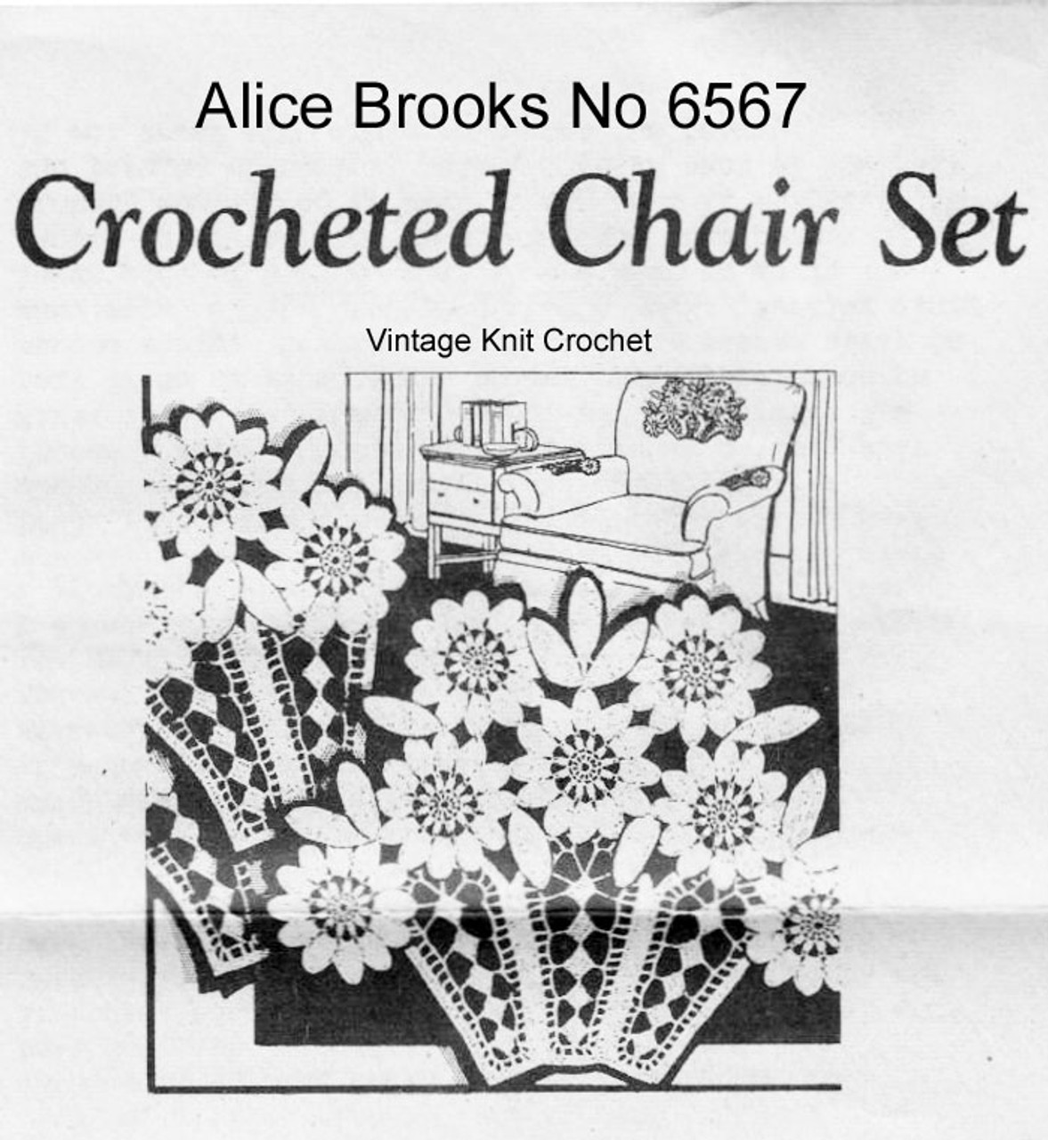 Vintage Flower Basket Chair Set, Alice Brooks 6567