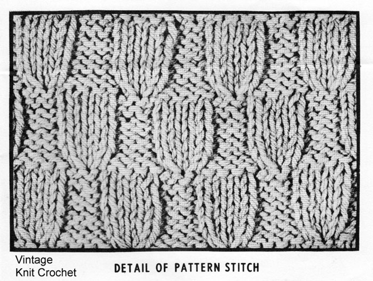 Childs Knitted Coat Pattern Stitch Illustration, Mail Order 7334