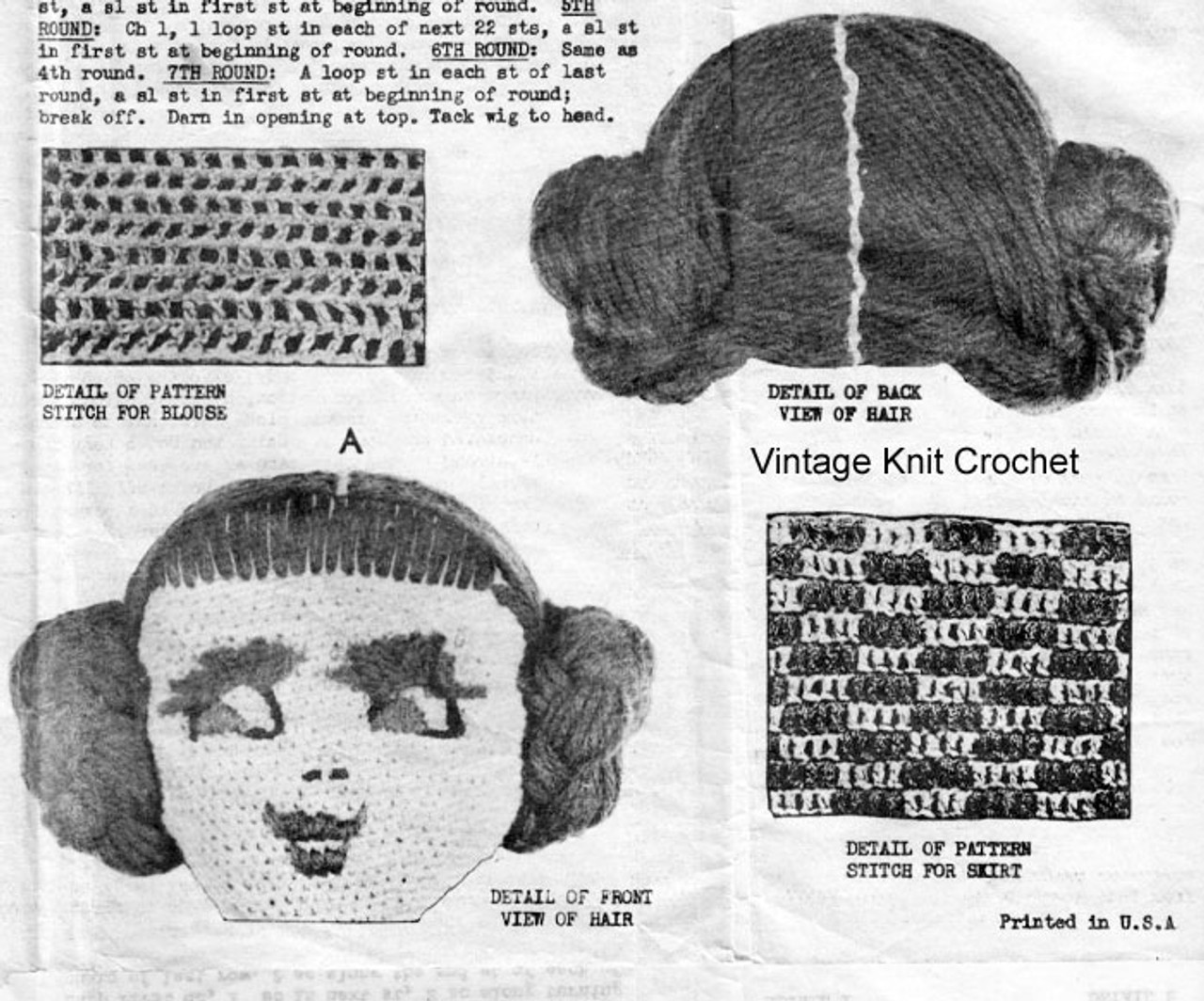Crochet Doll Pattern, Laura Wheeler 1873