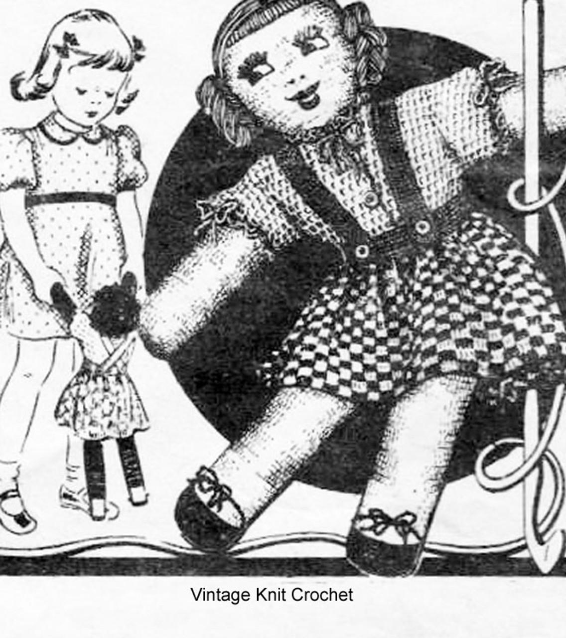 Vintage 1930s Crochet Doll Pattern, Laura Wheeler 1873