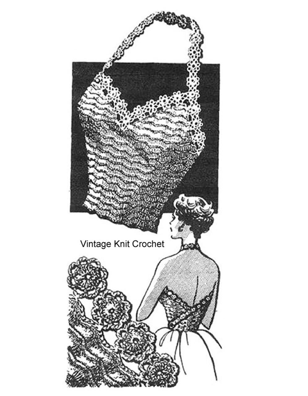 Crocheted Halter Strap Top Pattern Design 7362