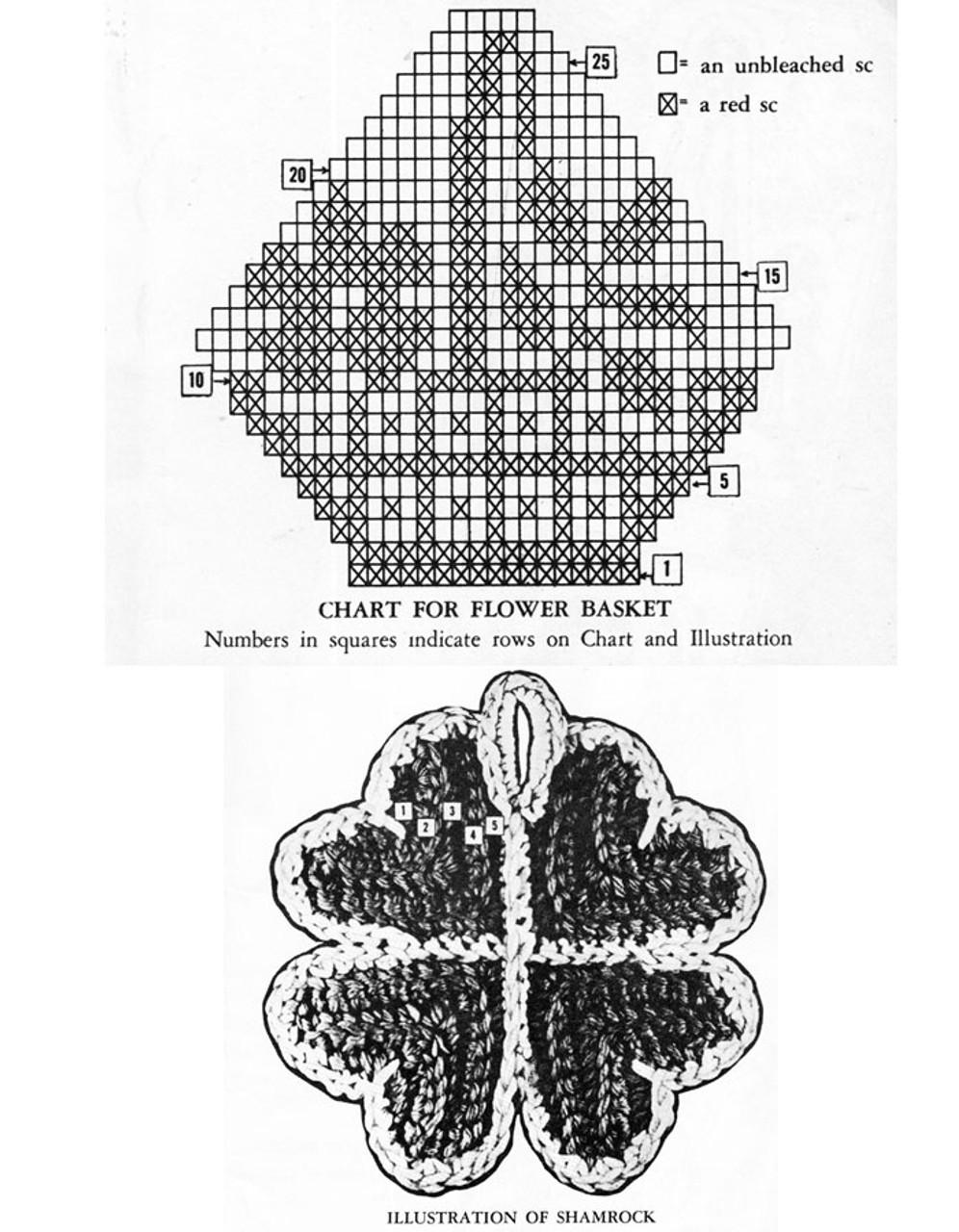 Free Crochet Shamrock Potholder Pattern