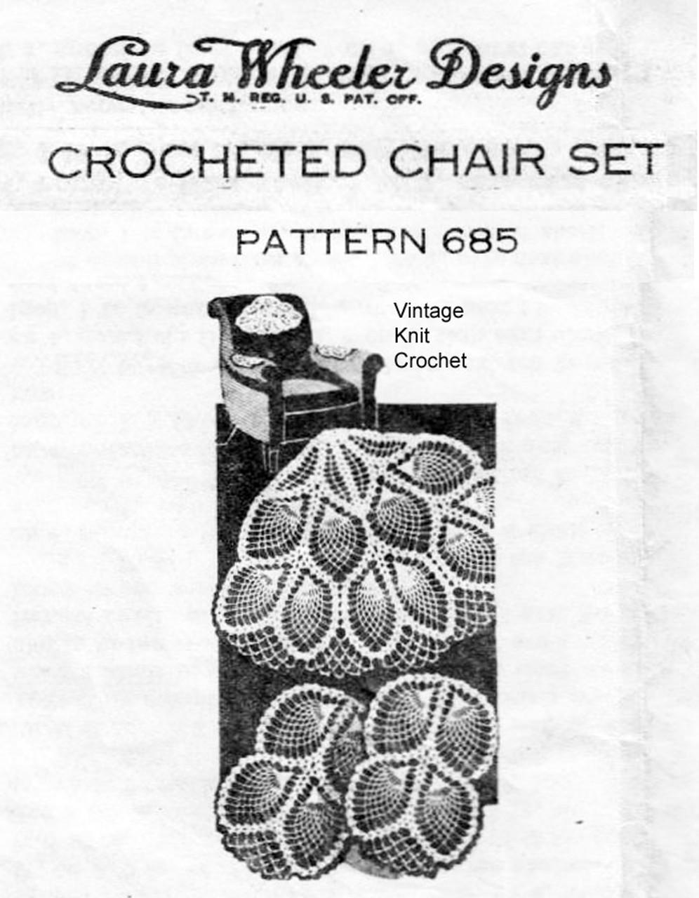 Pineapple Fan Crochet Chair Set Pattern Design 685