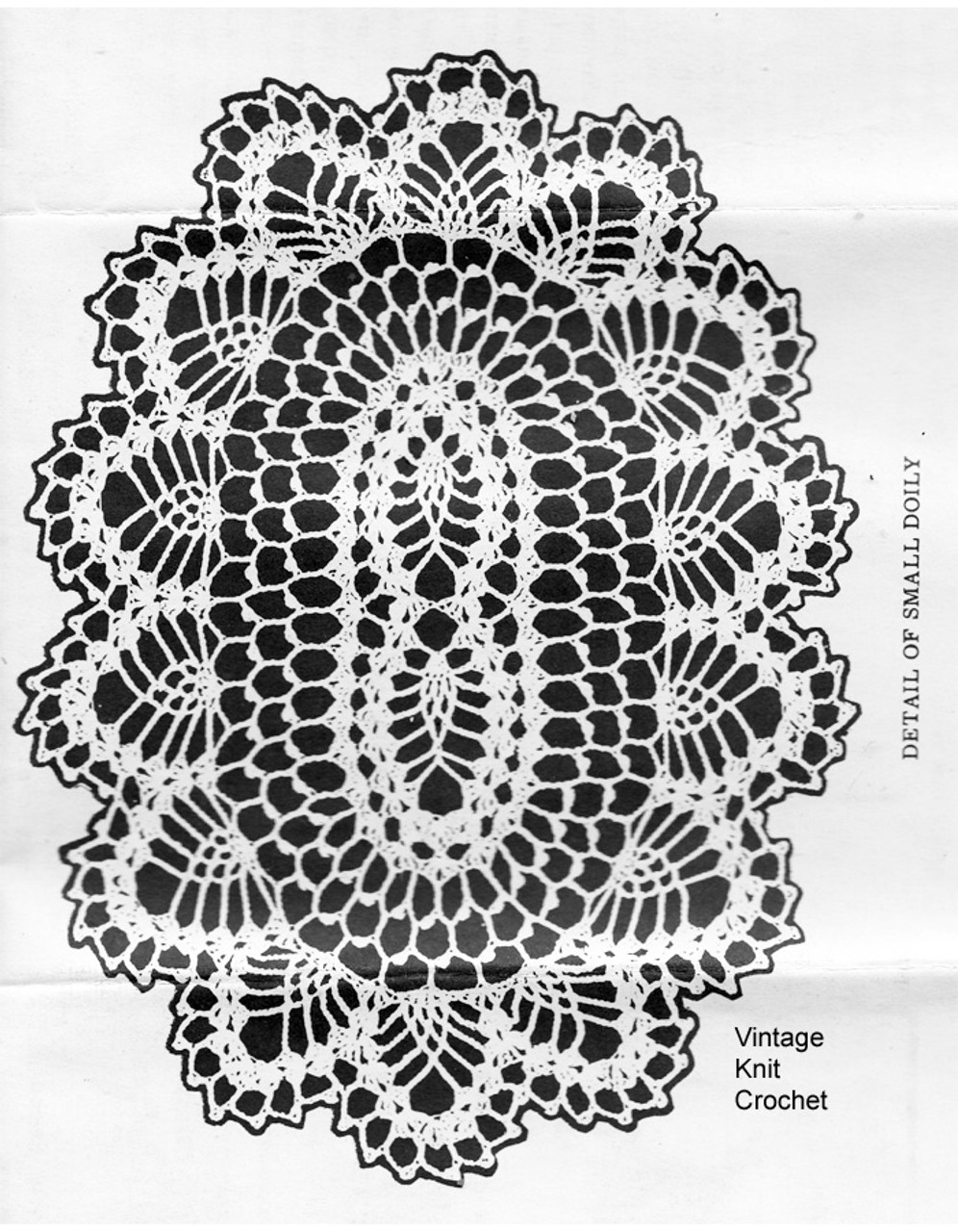 Small Oval Pineapple Doily Illustration for American Weekly 3141