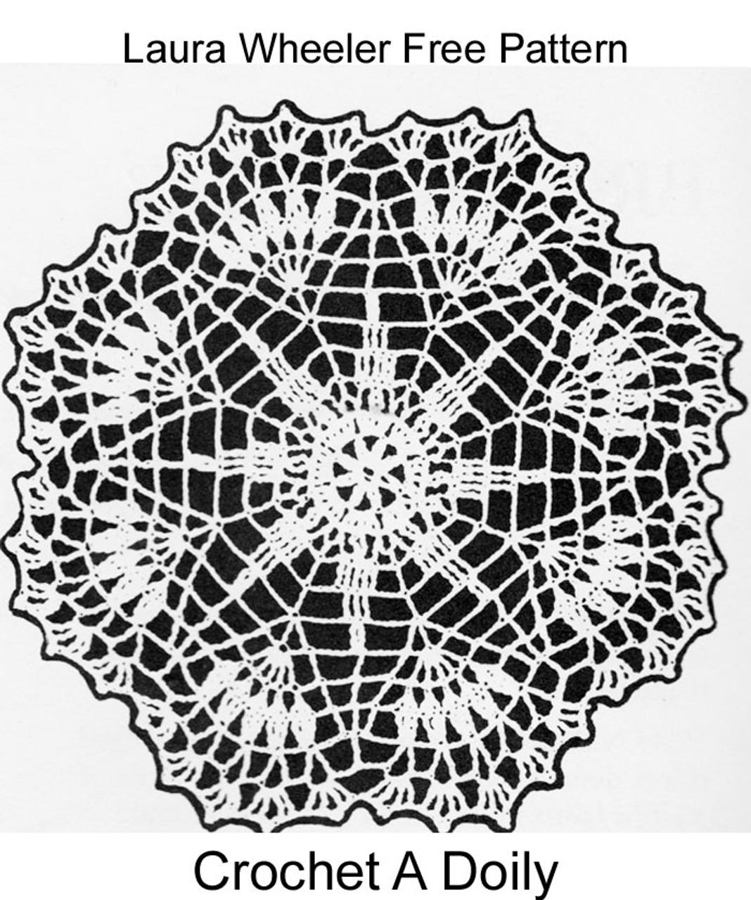 Free Crochet Star Doily pattern, Laura Wheeler