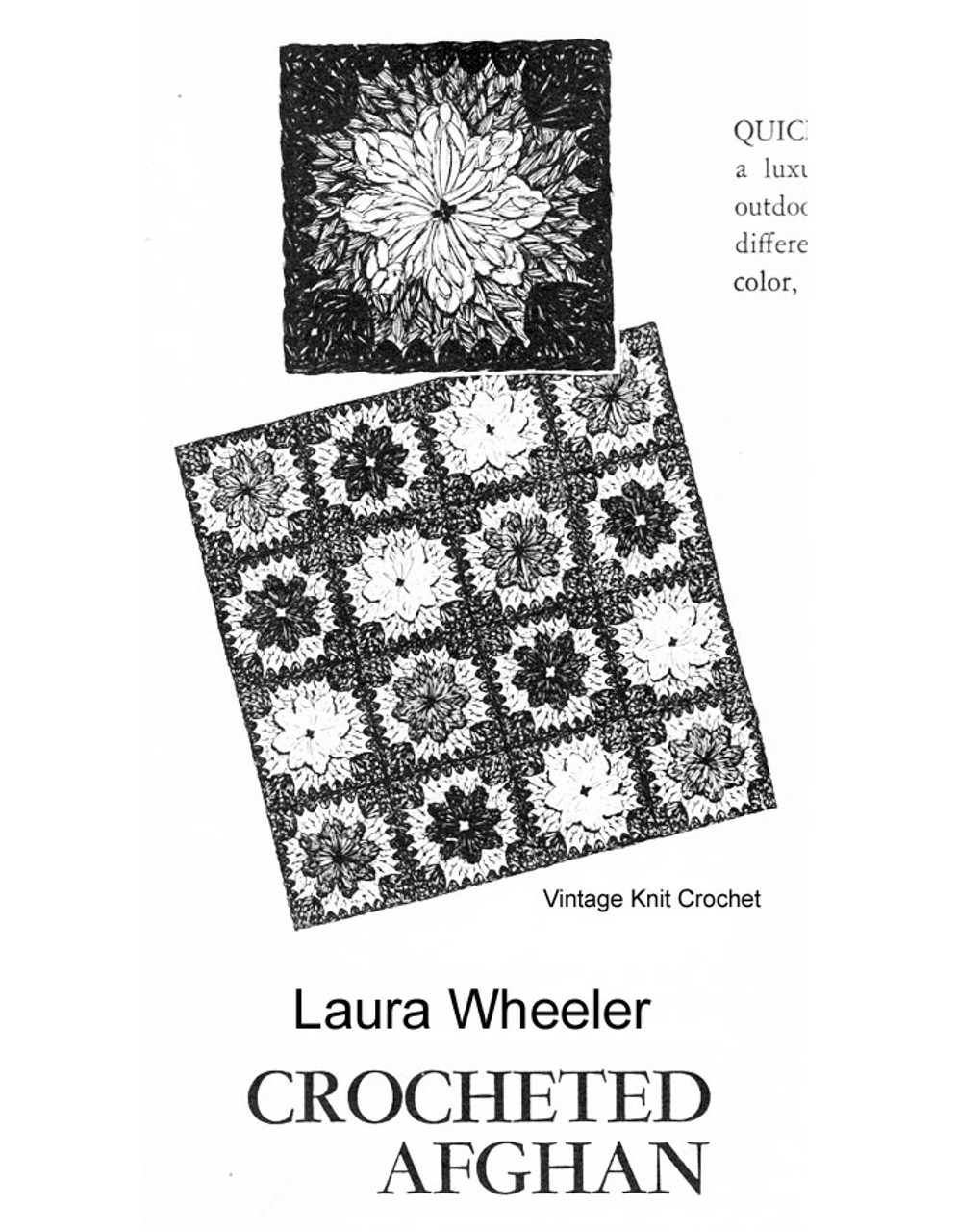 Laura Wheeler Free Crochet Afghan Pattern Squares