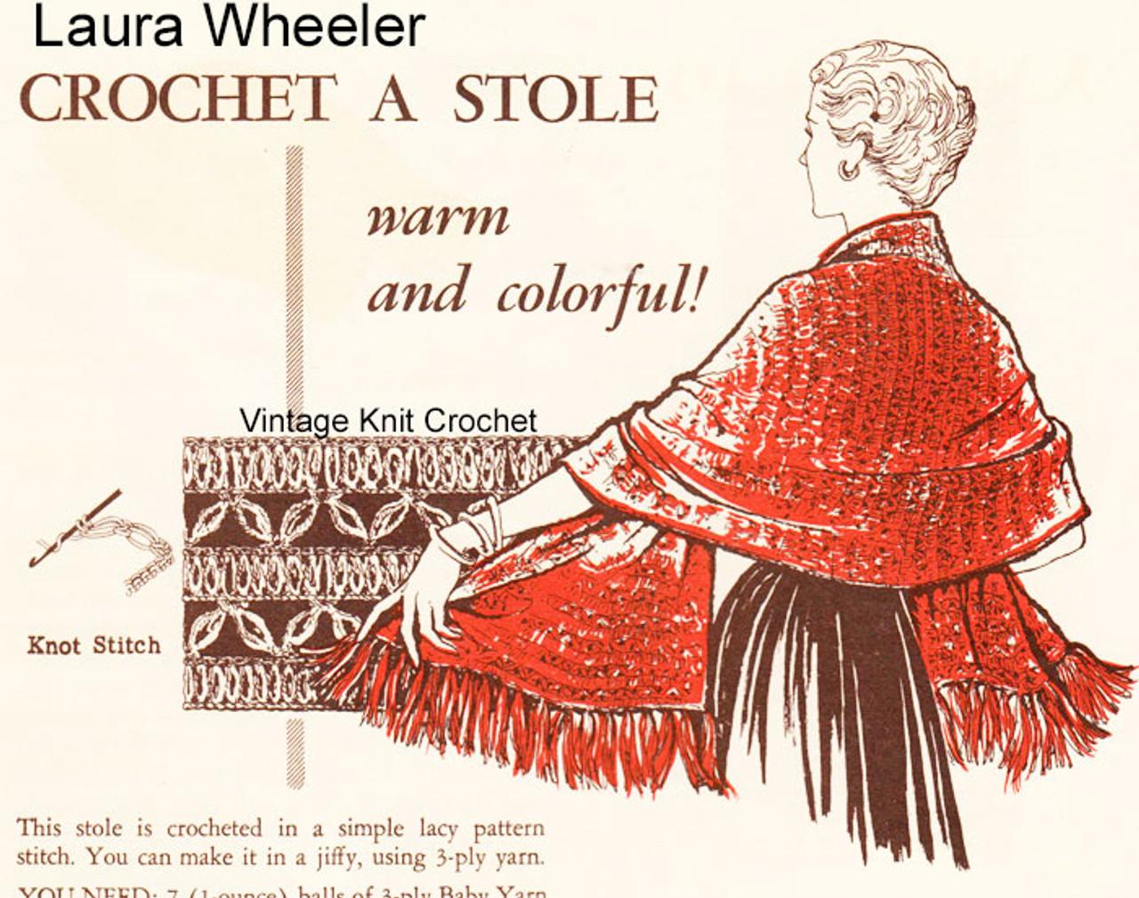 Easy Crochet Stole Pattern, Free Download