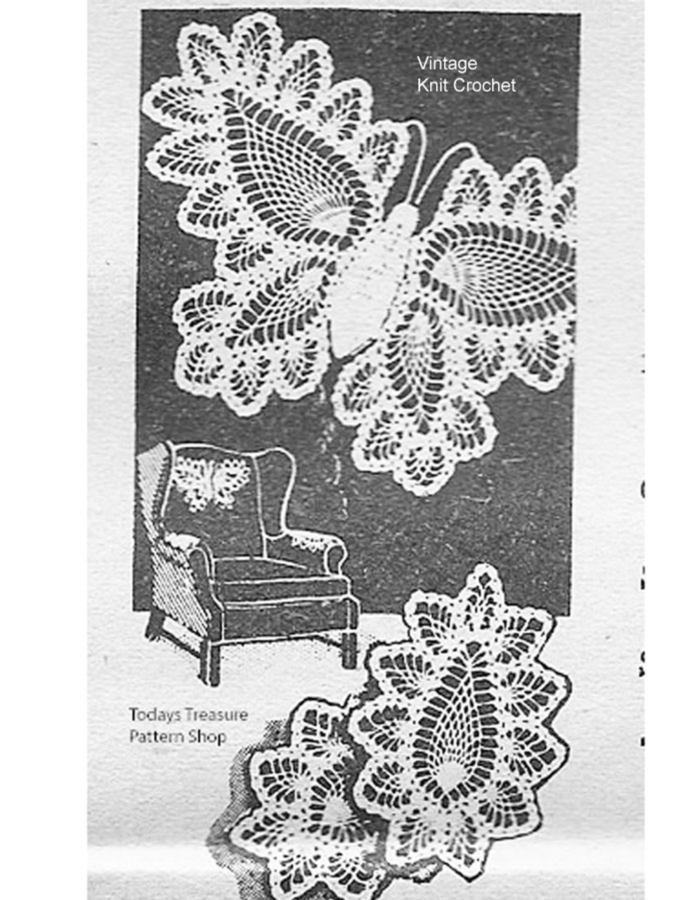 Vintage Crochet Butterfly Pattern, Alice Brooks 7106