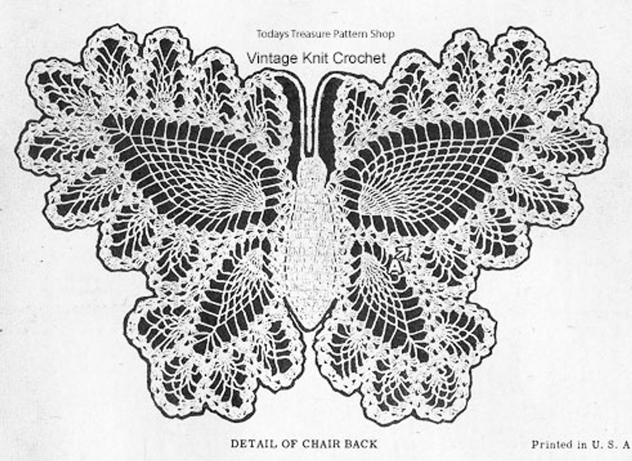 Butterfly Crochet Pattern Stitch Illustration, Alice Brooks 7106