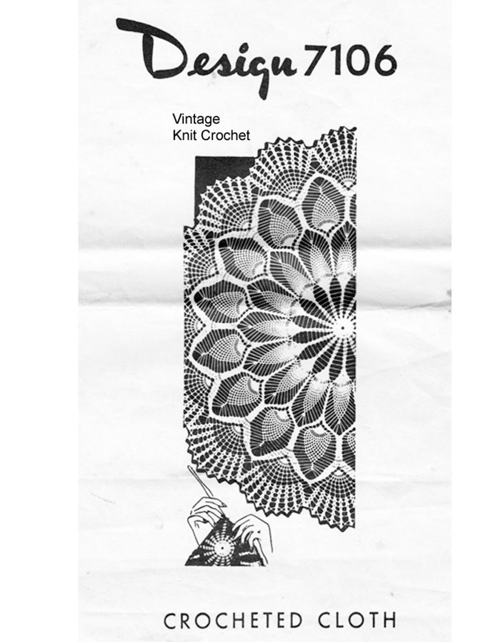 Vintage Pineapple Cloth Pattern, Alice Brooks 7106
