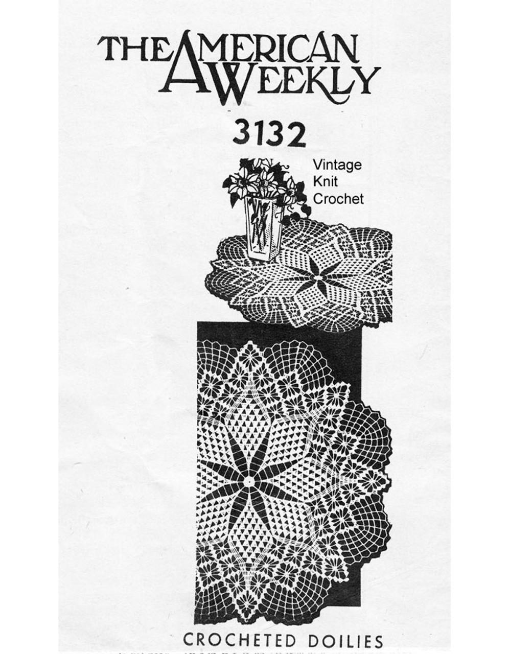 Spiderweb Crochet Doily Pattern Mail Order 3132