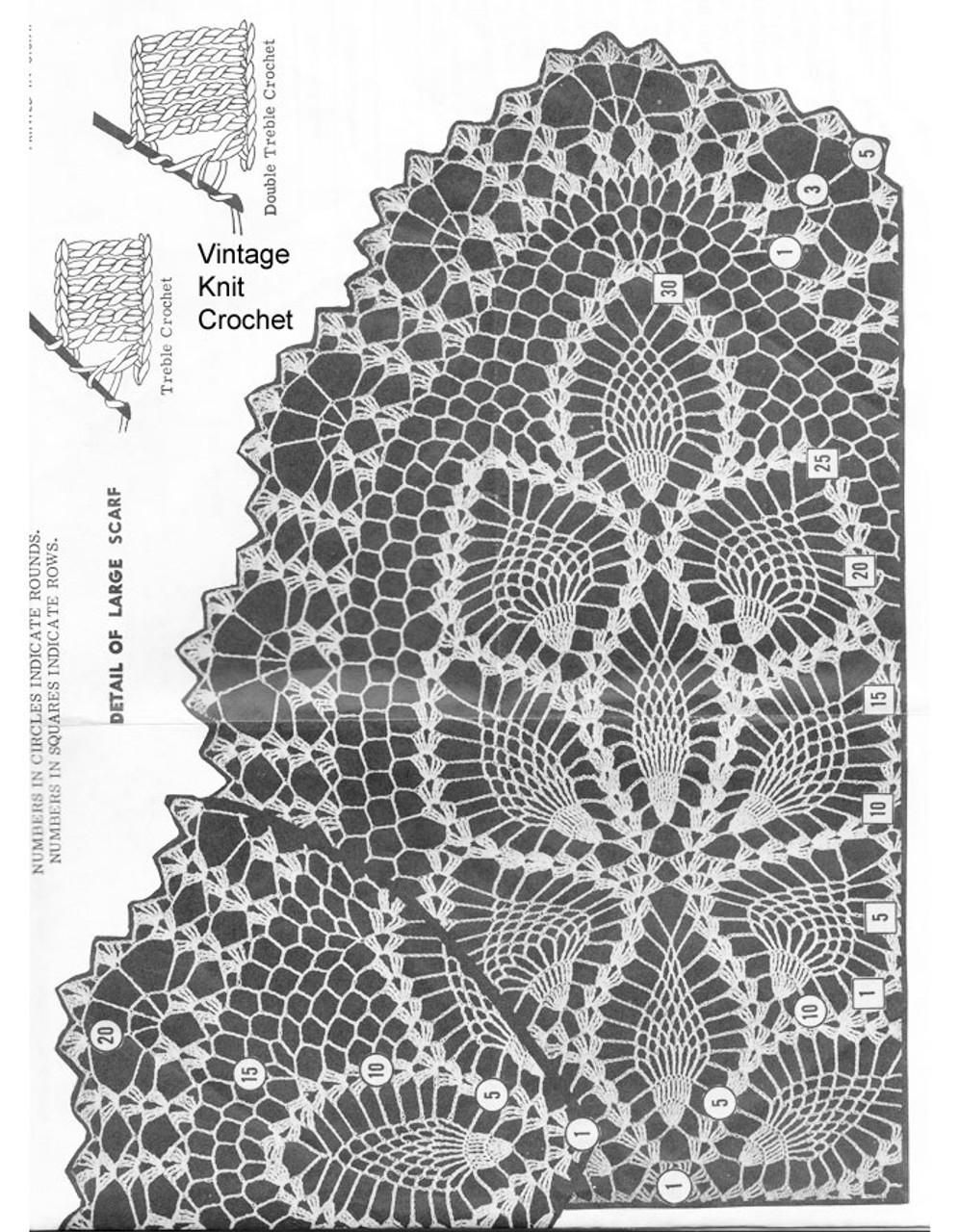Pineapple Runner Crochet Pattern Illustration, Laura Wheeler 737