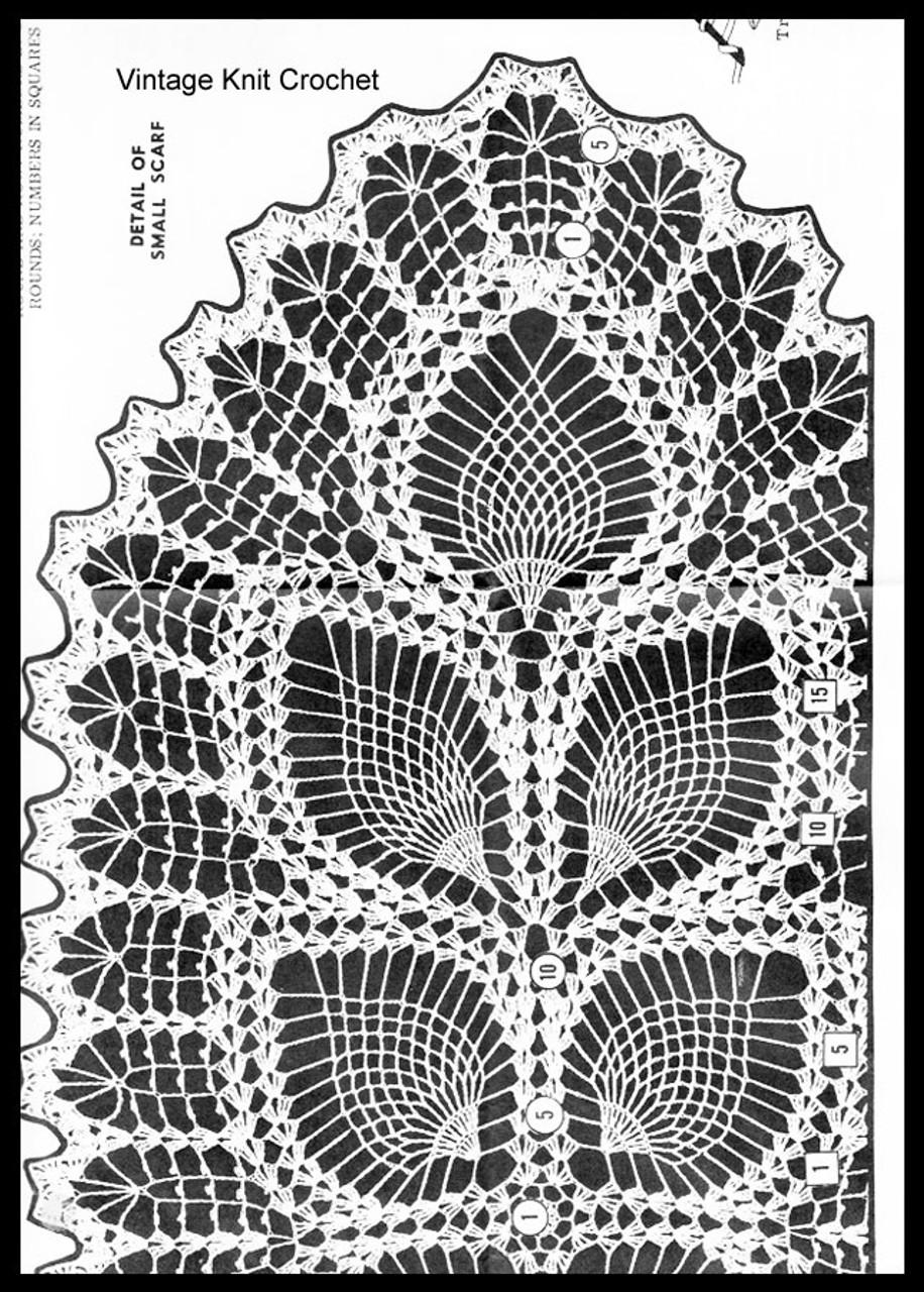 Pineapple Runner Crochet Pattern Stitch Illustration, Laura wheeler 685