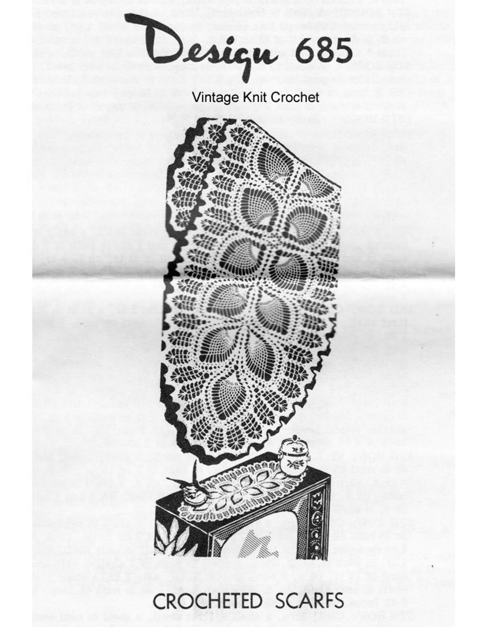 Vintage Pineapple Runner Pattern Design 685