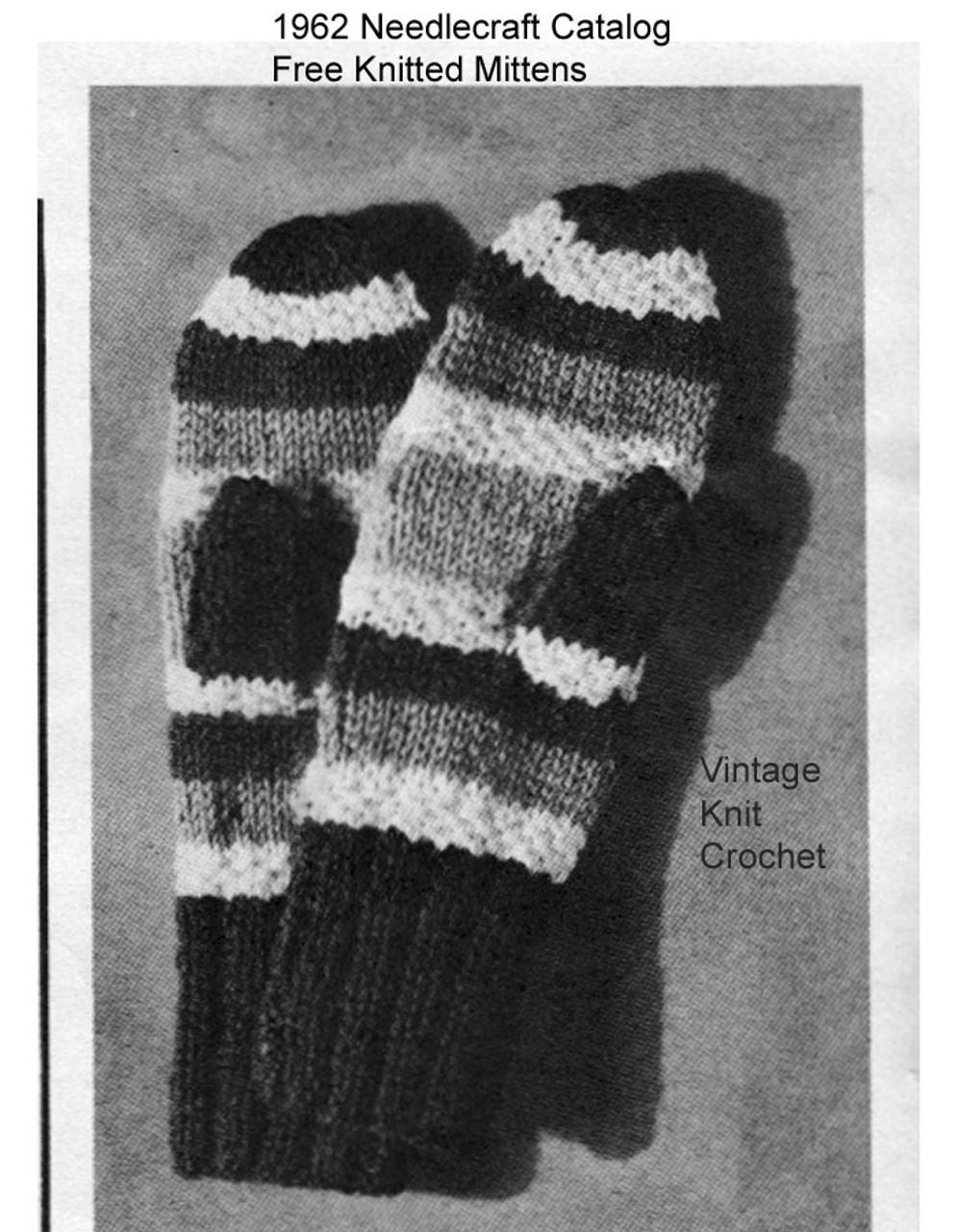 Free Mittens Knitting Pattern