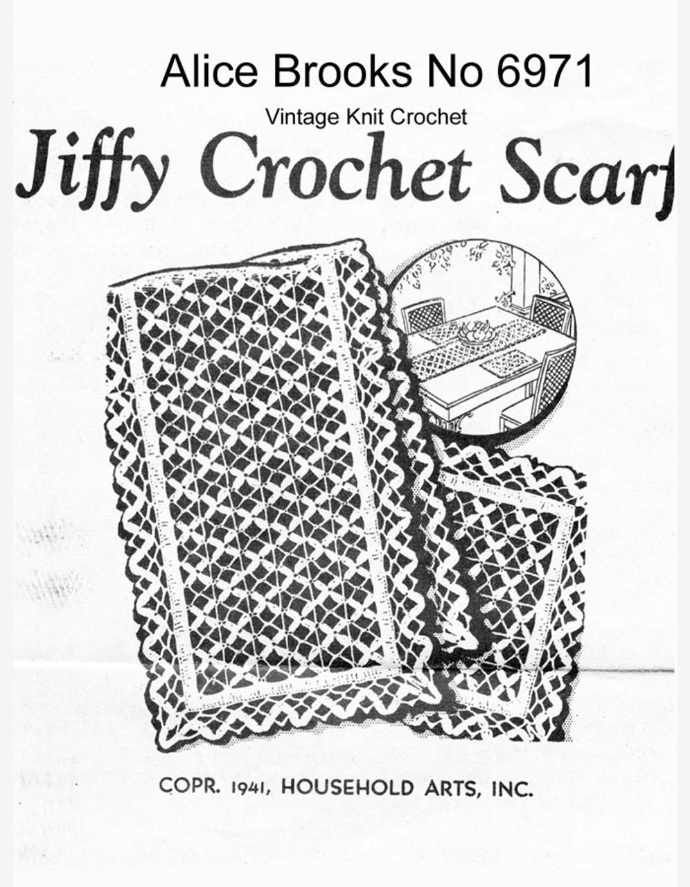 Crochet Lace Runner Pattern, Alice Brooks 6971