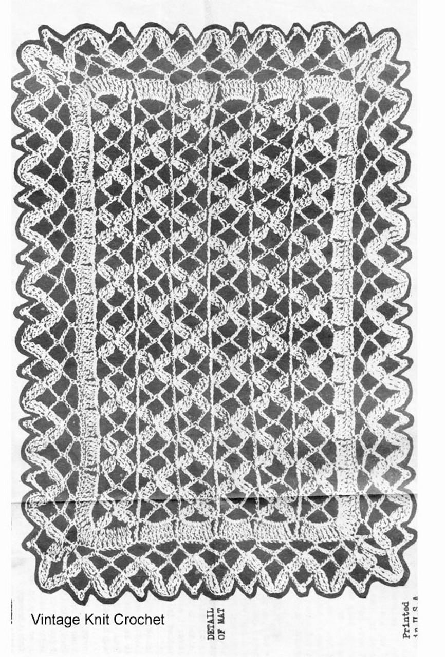 Vintage Crochet Luncheon Set Pattern Design 6971, Runner Mats