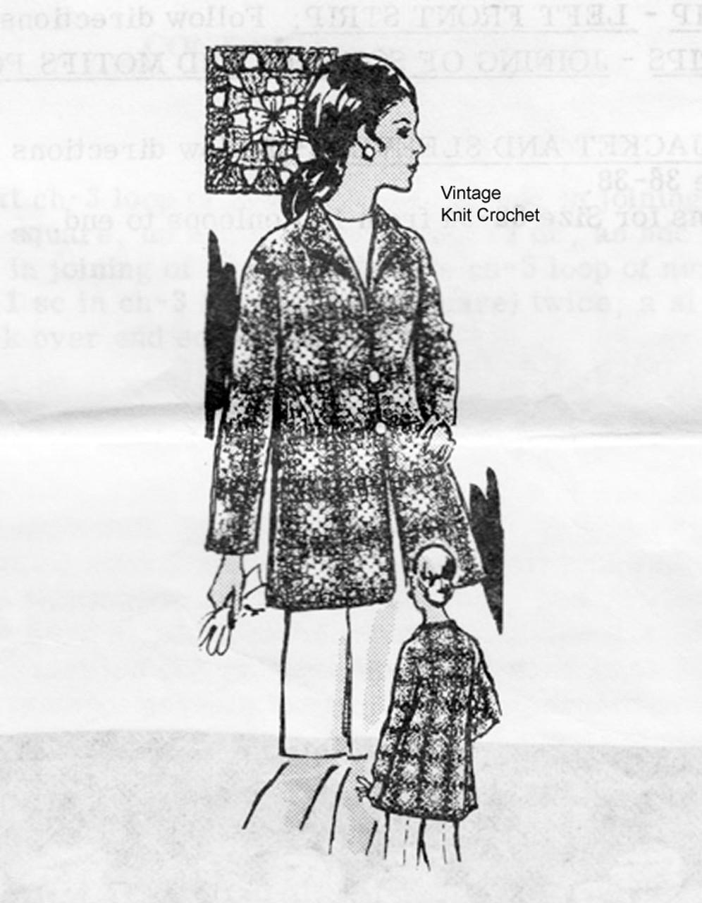 Laura Wheeler Crochet Granny Jacket Pattern Design 850