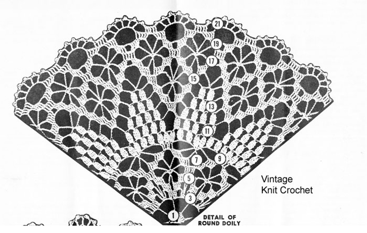 Small Spiderweb Doily Illustration, American Weekly 3154