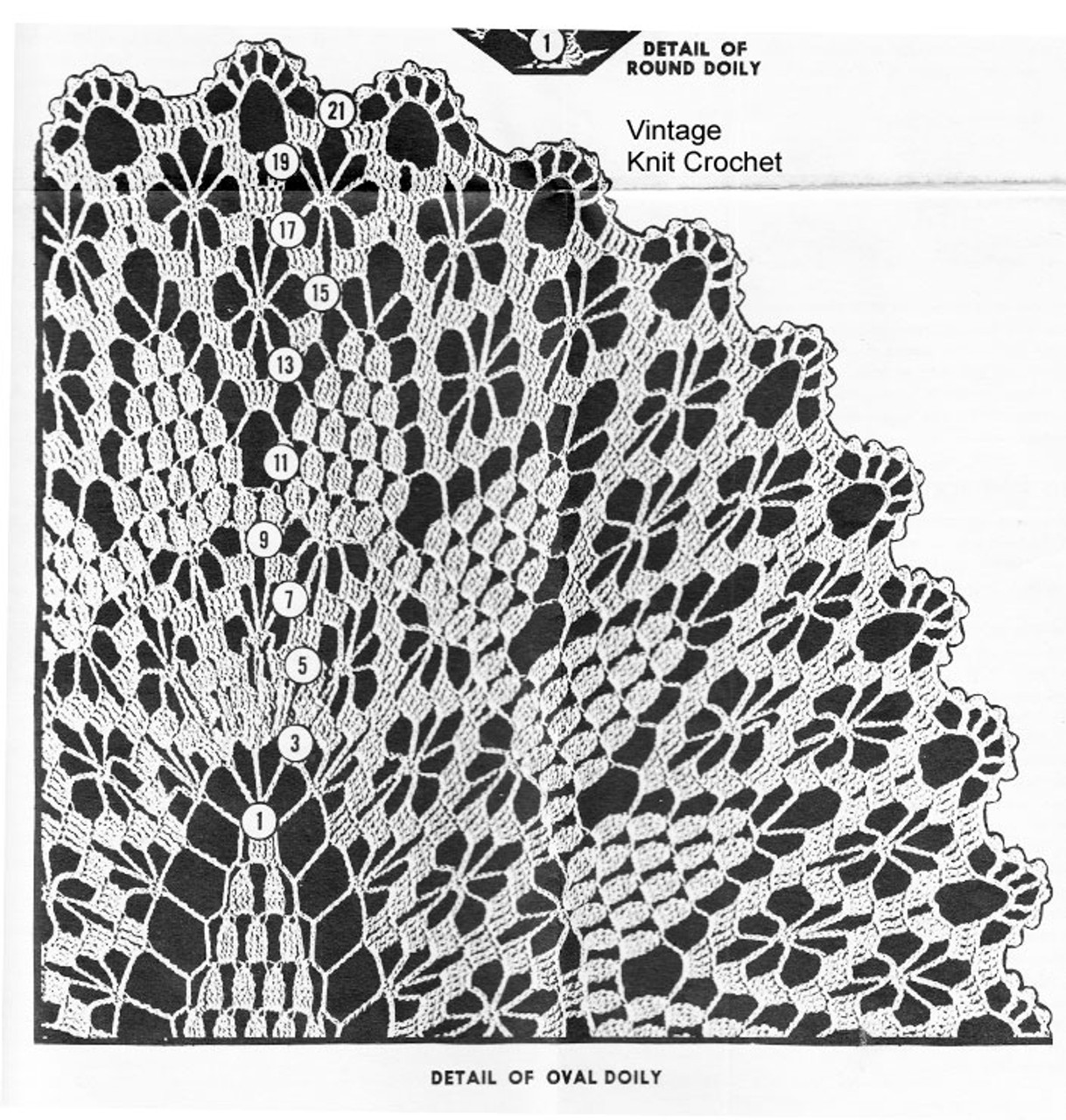 Large Spiderweb Doily Illustration, American Weekly 3154