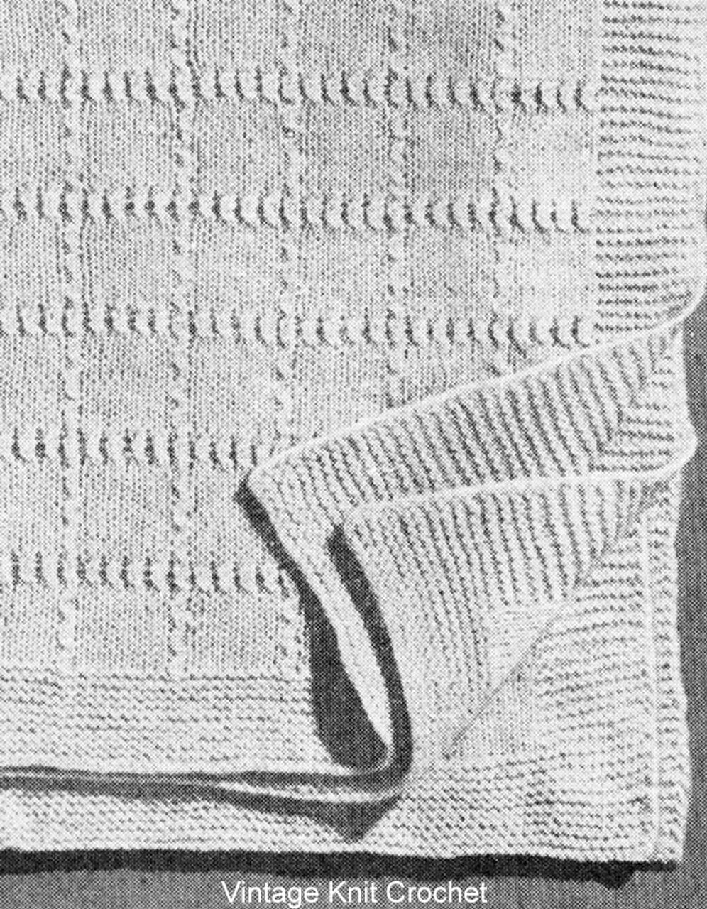 Free Knitted Baby Blanket Pattern in Garter Stitch