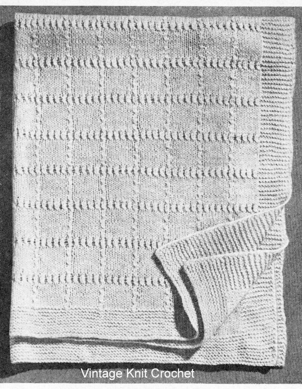 Free Garter Stitch Knitted Baby Blanket Pattern