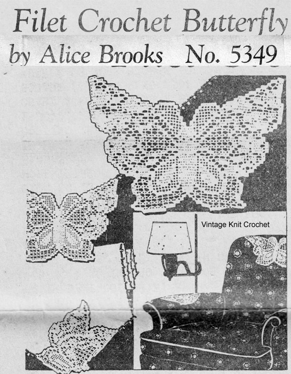 Filet Butterfly Chair Doily Crochet Pattern Design 5349