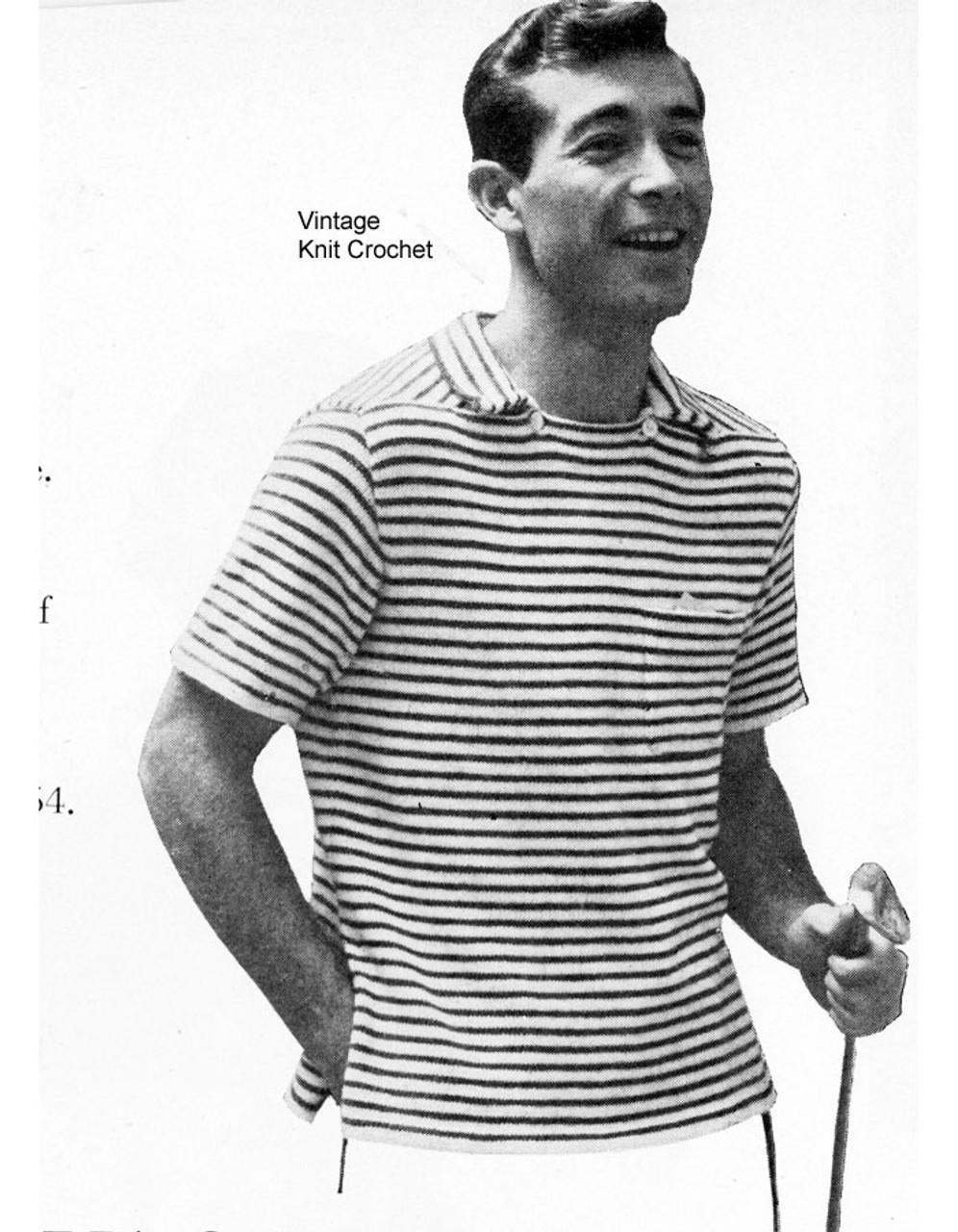 Mens Stripe Pullover Shirt Pattern