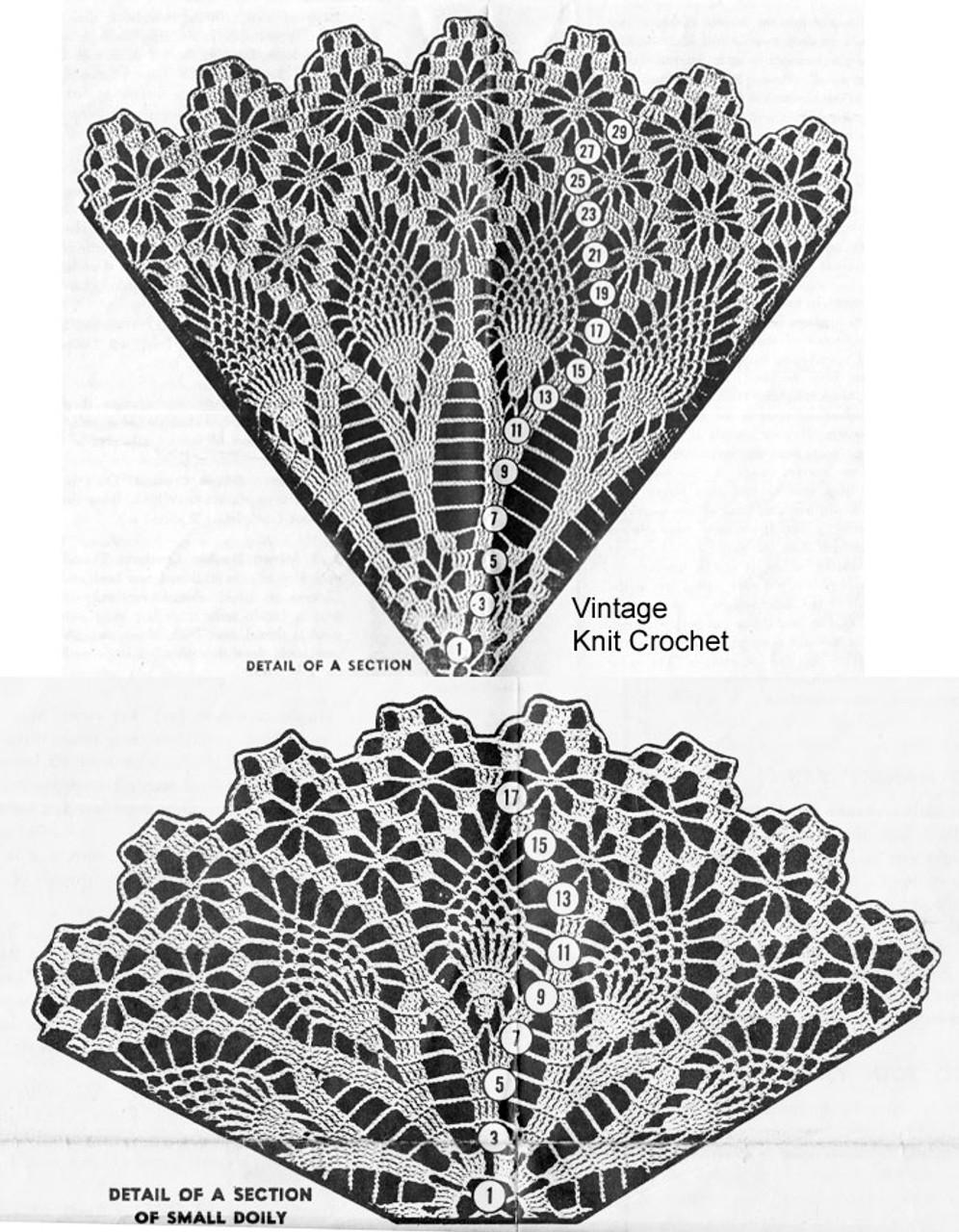 Crochet Doily Pattern Stitch Illustration, American Weekly 3148