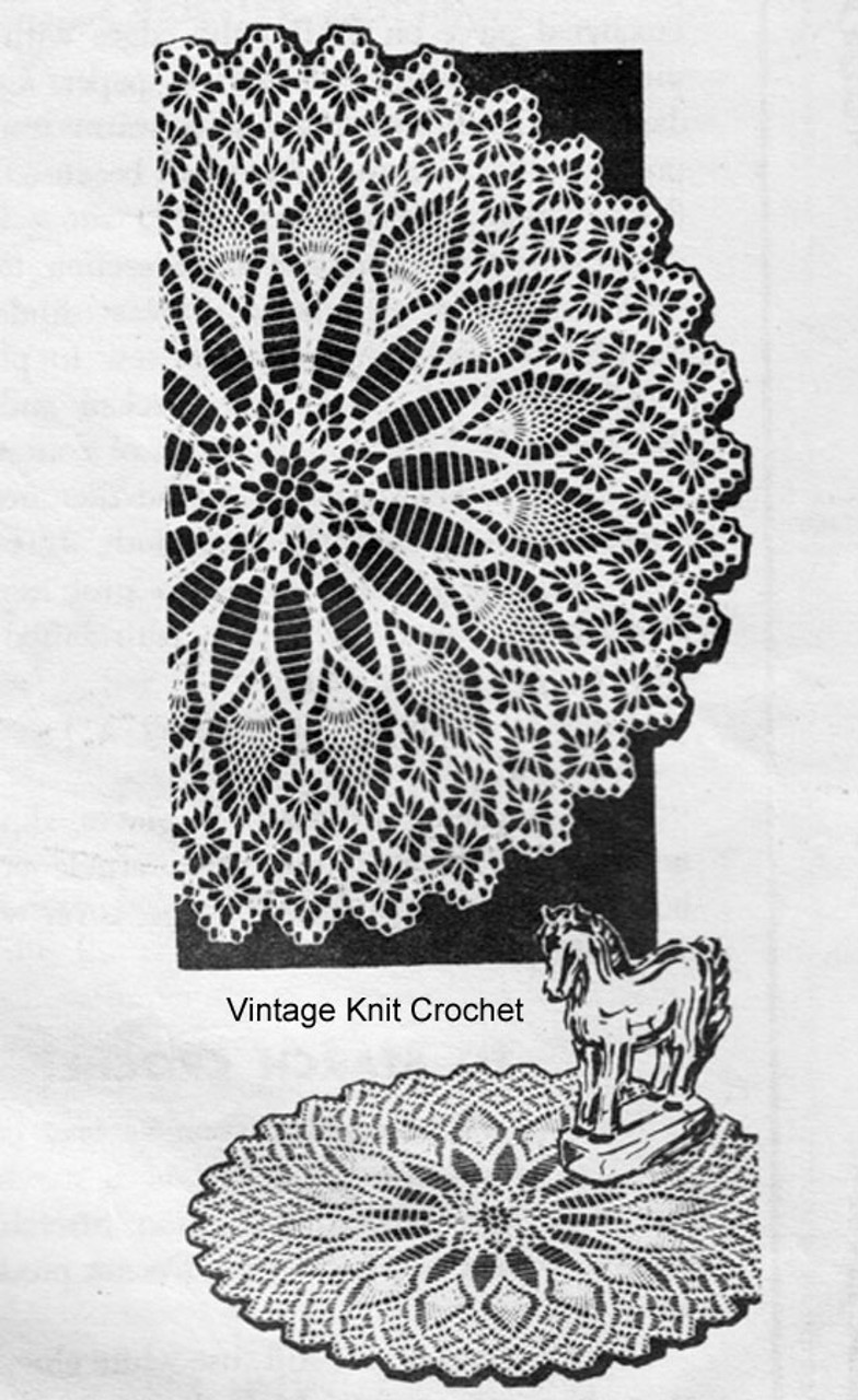 Pineapple Spiderweb Crocheted Doilies Pattern Design 3148