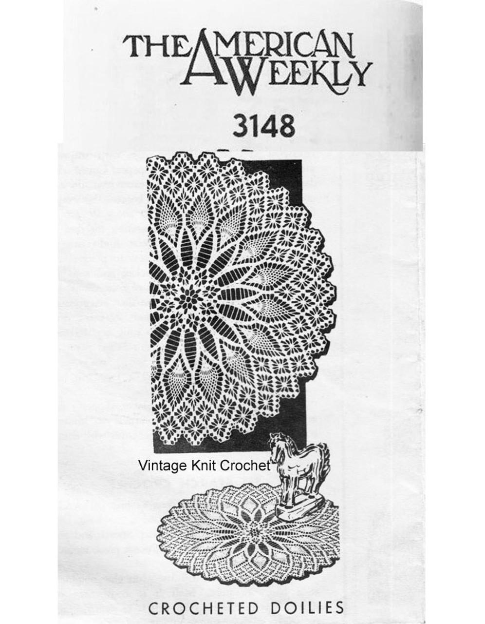 Crochet Spiderweb Centerpiece Doily Pattern No 3148