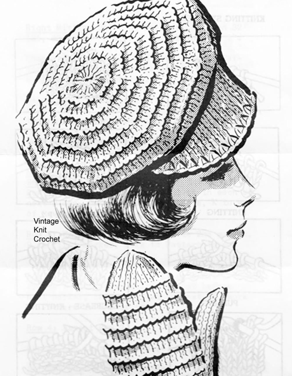 Knitted Dutch Cap Pattern, Rib Stitch, Mittens, Anne Cabot 5270