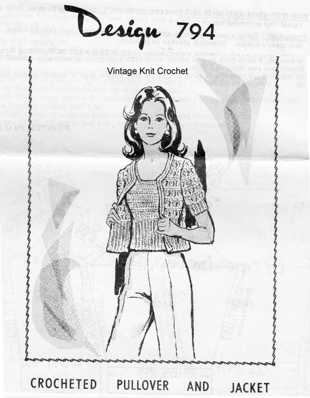 Crochet Sleeveless Top Jacket Pattern Design 794
