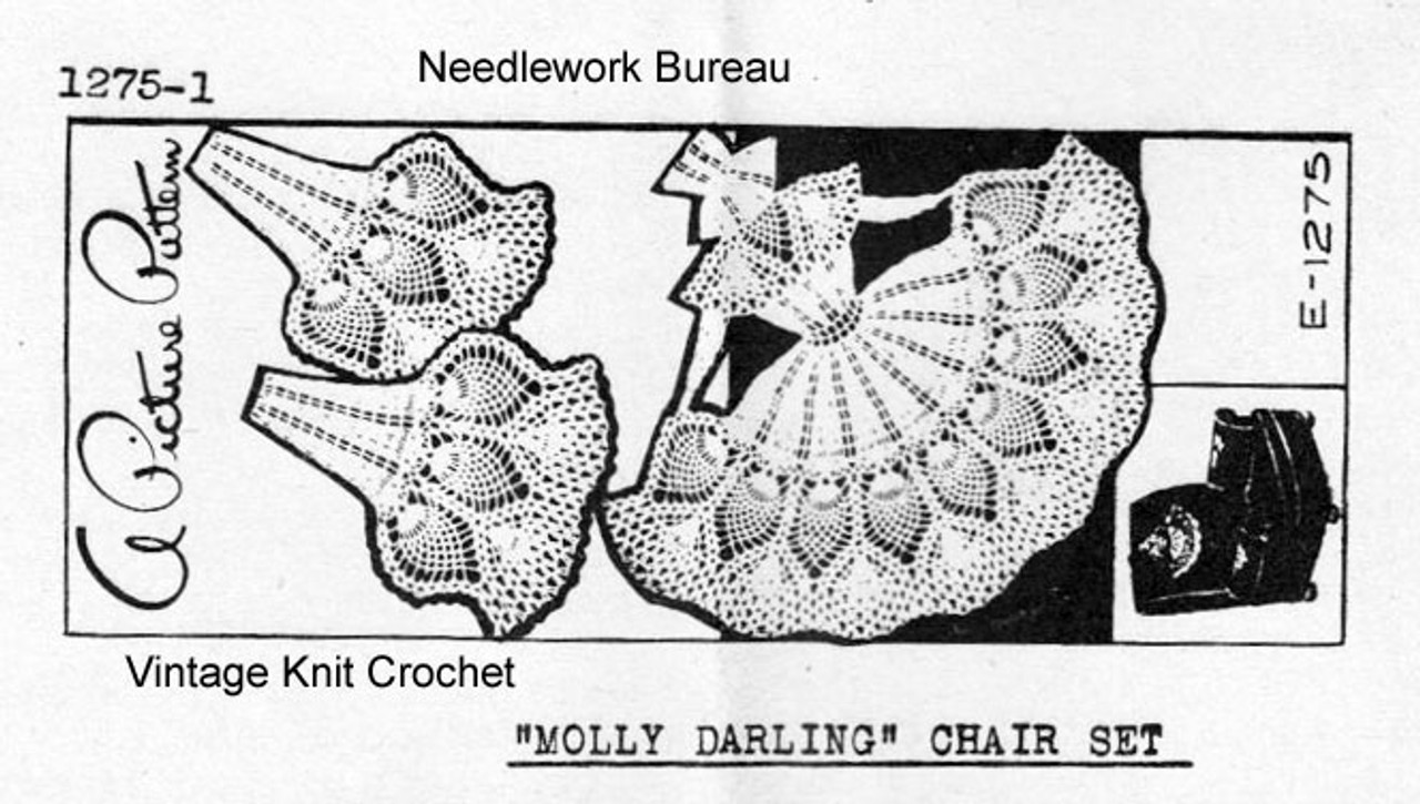 Mail Order 1275 Crochet Molly Darling Doily