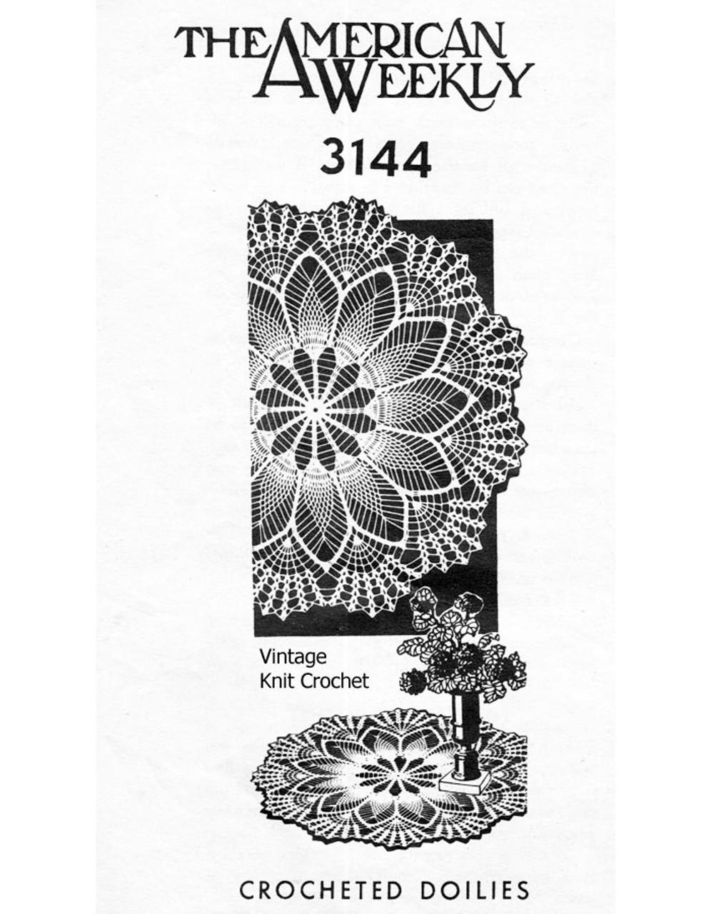 Large Pineapple Shell Crochet Doily Pattern Design 3144