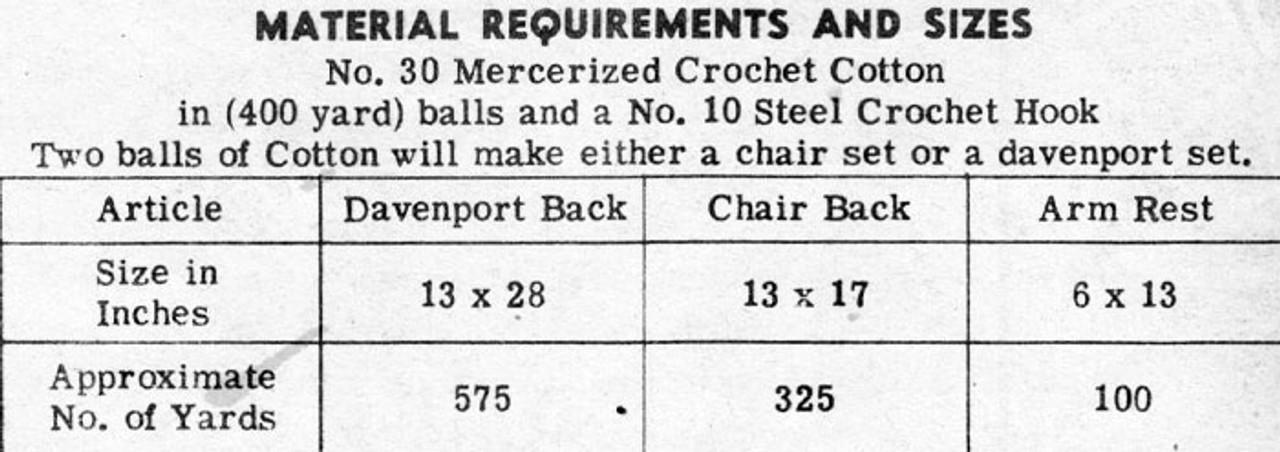 Crochet Fern Chair Doily No 3133
