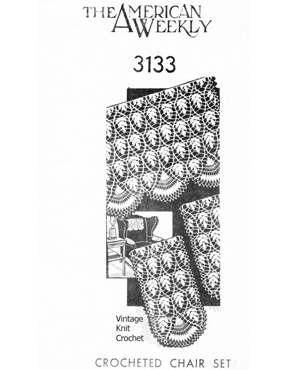 Vintage Fern Doily Crochet Pattern, Design 3133