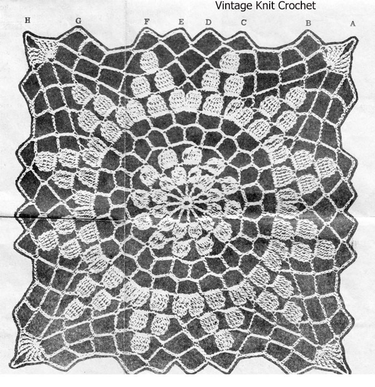 Crochet Square Pattern Stitch Illustration Design 7216
