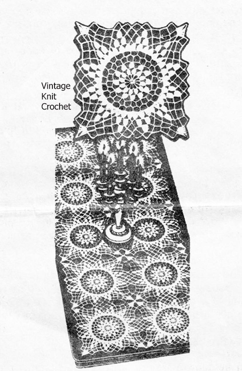 Vintage Square Crochet Pattern Design 7216