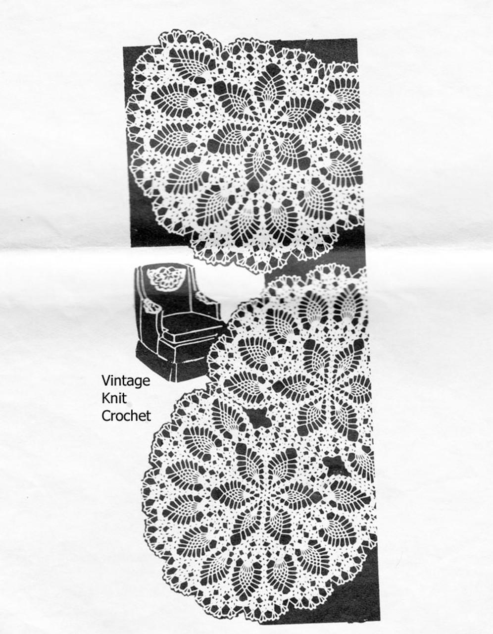 Pineapple Star Chair Doily Pattern, Alice Brooks 7233