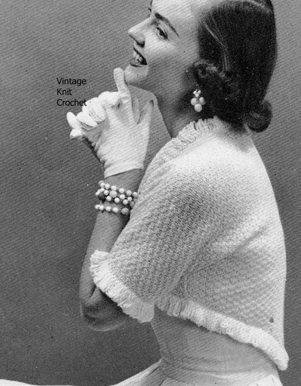 Easy Knitted Shrug Pattern, waist length No 3770