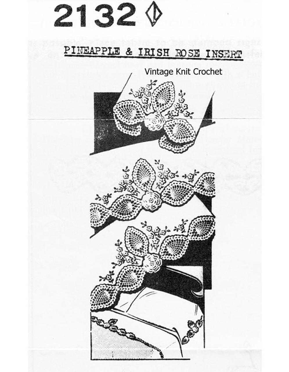 Irish Rose crochet insertion, Mail Order 2132