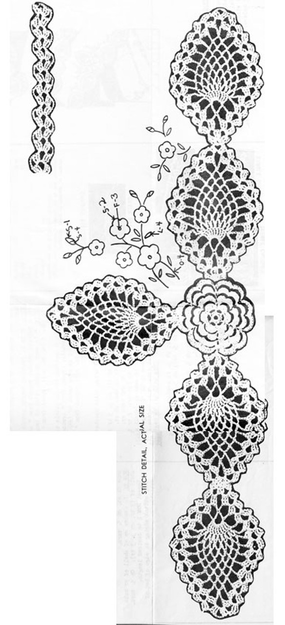 Pineapple Edging Pattern Illustration, Anne Cabot 2132