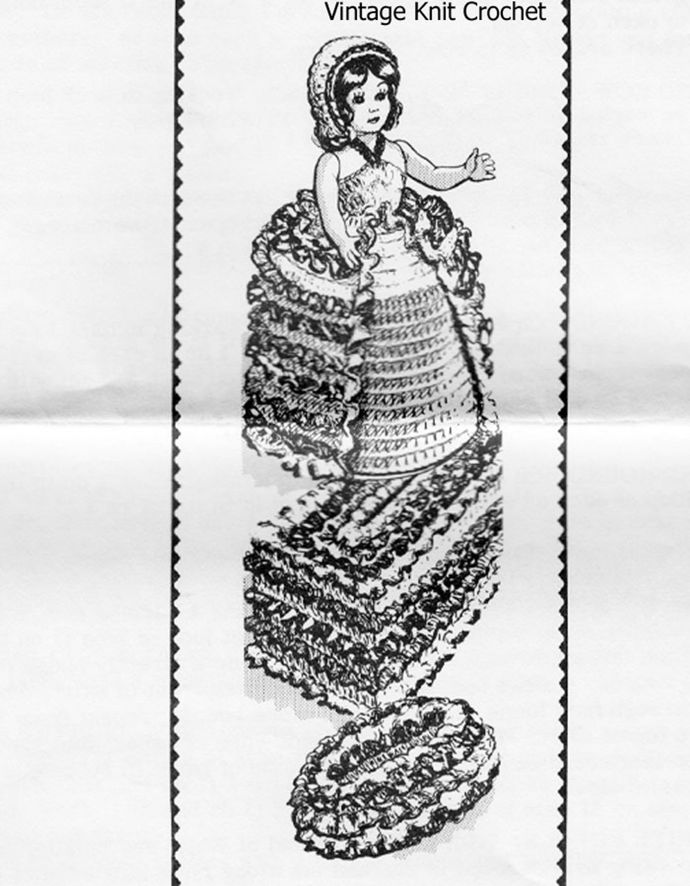 Vintage Crochet Tissue Topper Pattern Design 7045, Soap Holder