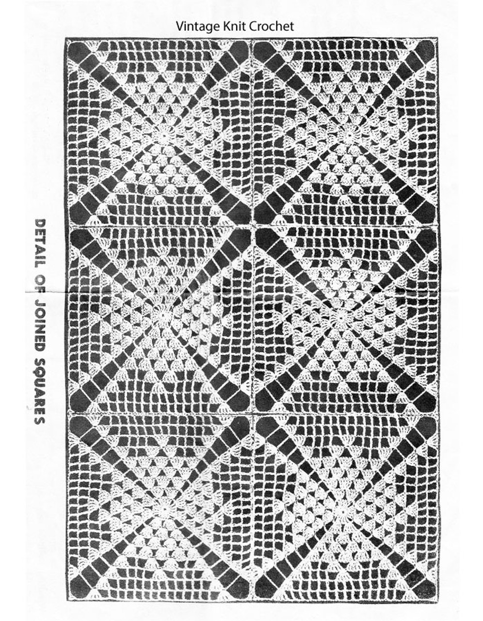 Colonial Crochet Tablecloth Pattern, American Weekly 3150