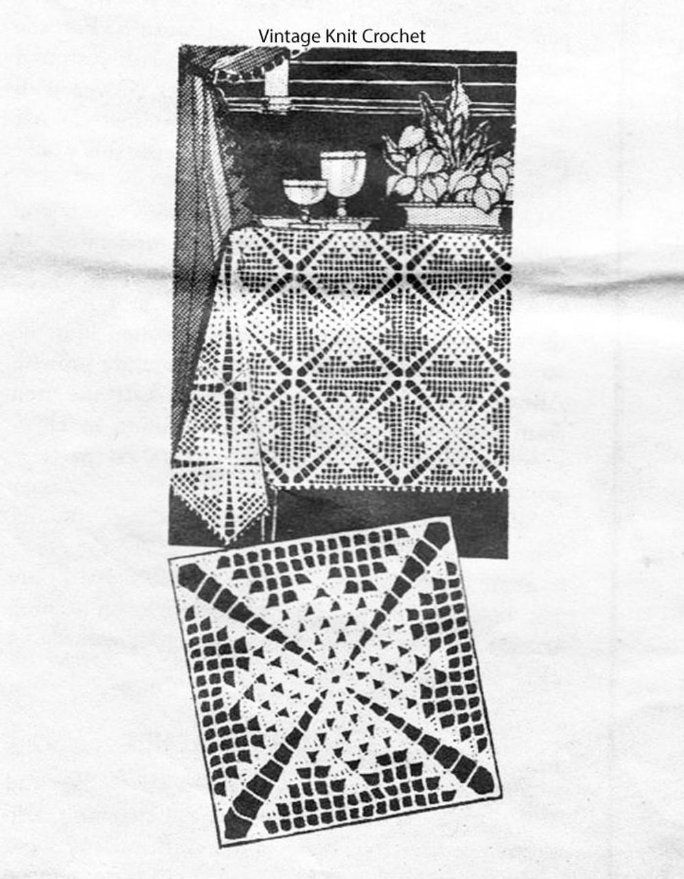 Crochet Tablecloth Square Pattern Design 3150